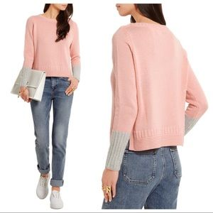 Chinti Parker S Pink 100% Cashmere Knit Sweater